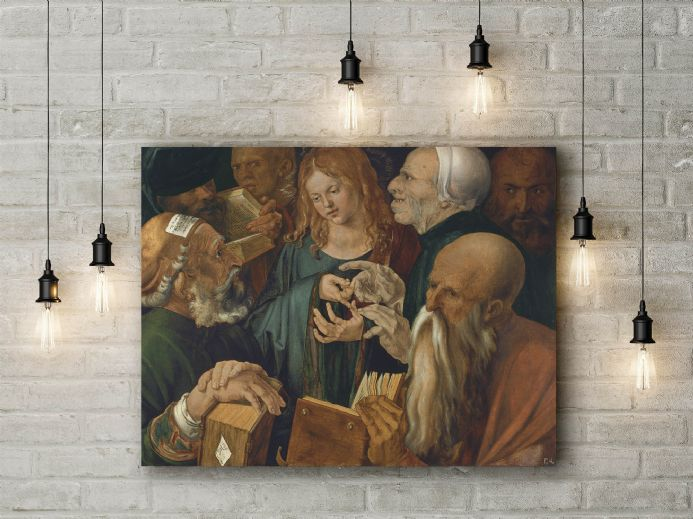 Albrecht Durer: Christ Among the Doctors. Fine Art Canvas.
